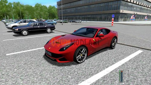 City Car Driving 1.4 – Ferrari F12 Berlinetta Araba Yaması