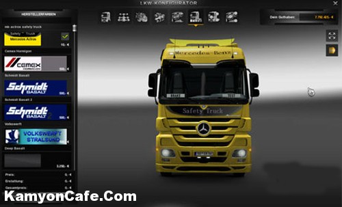 Photo of Mercedes Actros Safety Truck Skin [ETS2]