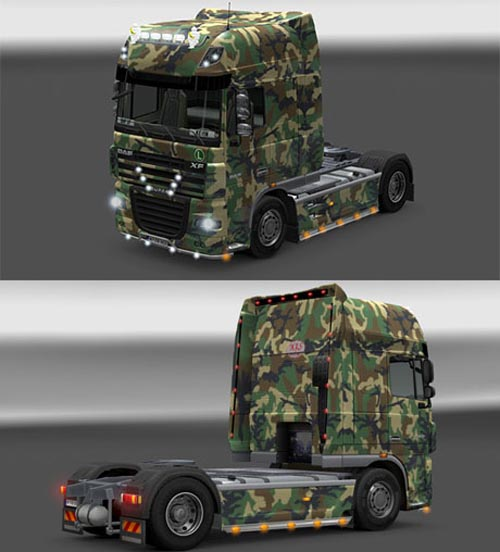 Photo of DAF Kamuflaj K1S Skin [ETS 2]