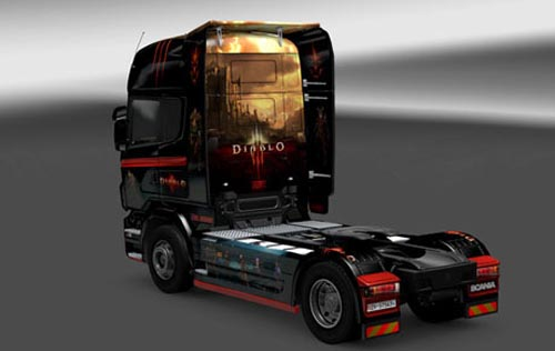 Photo of Scania Diablo 3 Araç Skin [ETS 2]