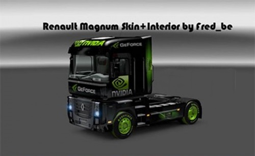 Photo of Renault Magnum Nvidia Skin