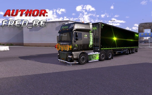 Photo of DAF XF Nvidia Dorse + Skin Euro Truck Simulator 2