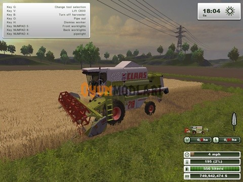 Photo of Claas Mega 218 Biçer Döver – Farming Simulator 2013