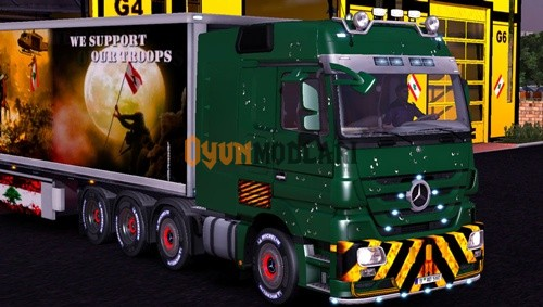 Photo of Mercedes Benz Actros Kurşun Delikleri Tır Skini – Euro Truck Simulator 2