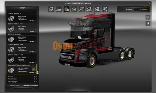 Photo of Scania Stax 2000 HP Motor – Euro Truck Simulator 2