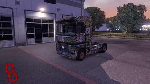 Photo of Renault Magnum Graffiti Tır Skini – Euro Truck Simulator 2