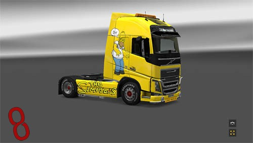 Photo of Volvo FH The Simpsons Tır Skini – Euro Truck Simulator 2