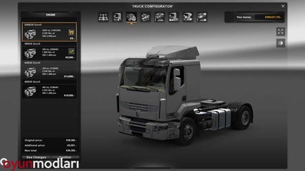 Photo of Euro Truck Simulator 2 – Renault Premium 2000 HP Motor Paketi