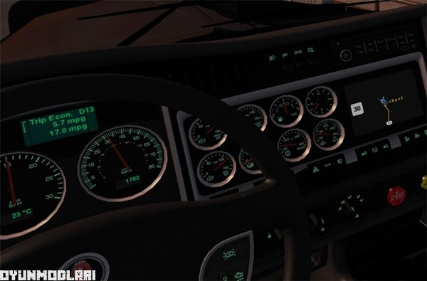 Photo of Kenworth W900 Yeni Gösterge Paneli – American Truck Simulator