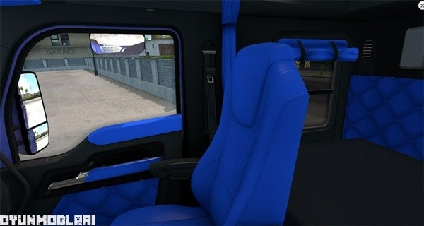 Photo of Kenworth T680 Mavi lnterior – American Truck Simulator