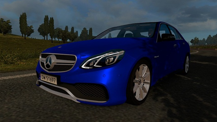 Photo of Euro Truck 2 – Mercedes Benz E63 AMG Araba Yaması V1 [1.28]