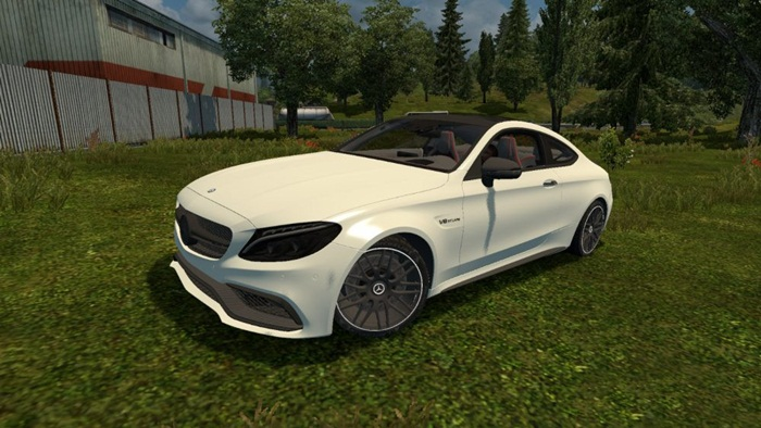 Photo of Euro Truck 2 – Mercedes Benz C63 S AMG [1.28]