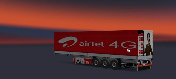 Photo of Euro Truck 2 – Airtel Dorse Skin Yaması [1.28]