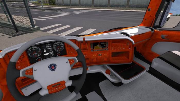 Photo of ETS2 – Scania R Turuncu-Beyaz Interior