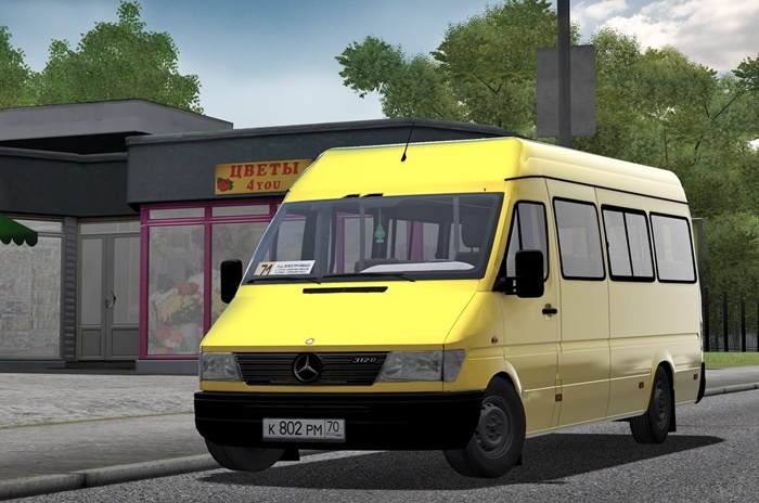 Photo of City Car Driving 1.5.1 – 1.5.5 – Mercedes-Benz Sprinter 312D