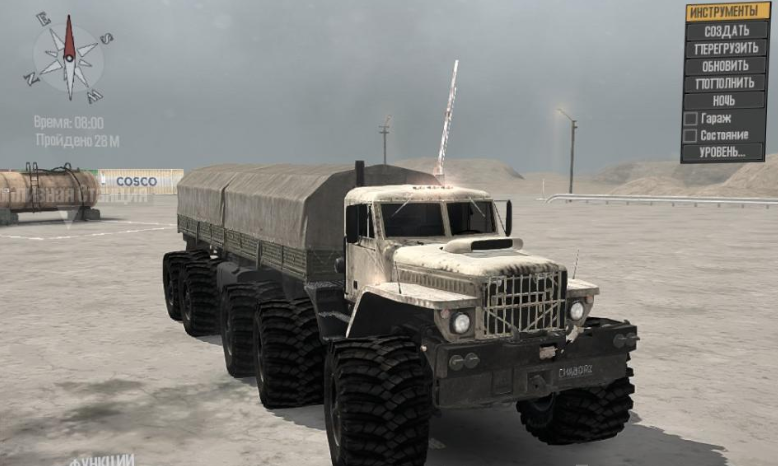 "Photo of SpinTires MudRunner – KrAZ ""CHABORZ"" 10×10 v1.0"