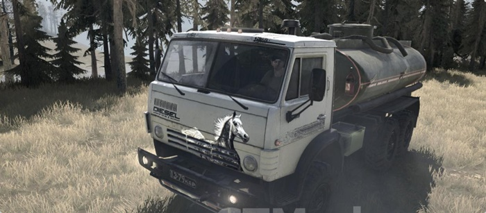 "Photo of SpinTires MudRunner – Kamaz-4311 ""Aerography"" v0.1"