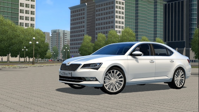 Photo of City Car Driving 1.5.7 – Skoda Superb B8 2018 Model