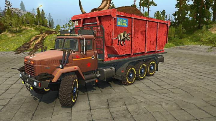 Photo of SpinTires MudRunner – KrAZ-7140 Kamyon Modu v1.0