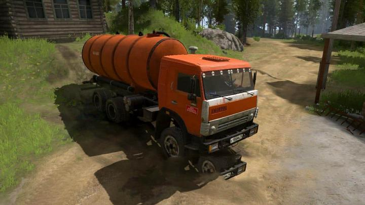 Photo of SpinTires MudRunner – KamAZ-65115/65111 The vacuum truck KO-505 05.05.19