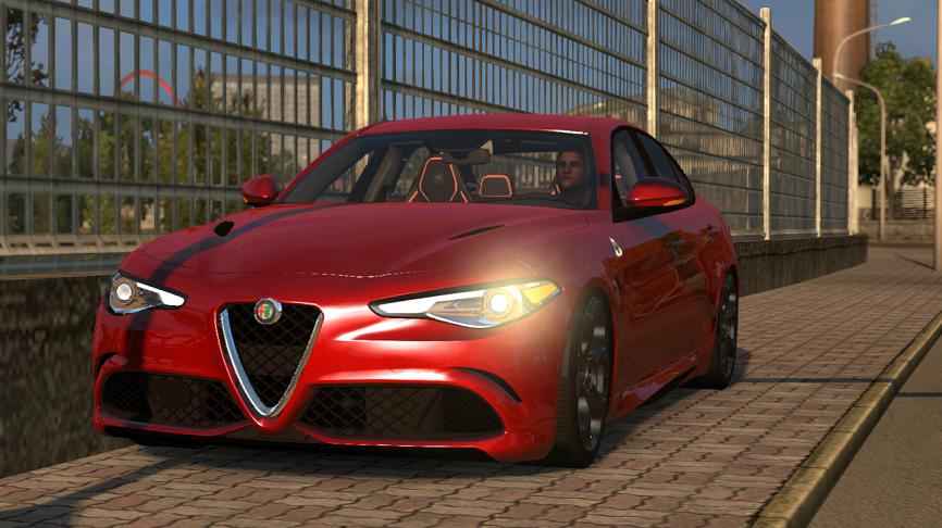 Photo of ETS2 – Alfa Romeo Giulia V1R10 Araba Modu