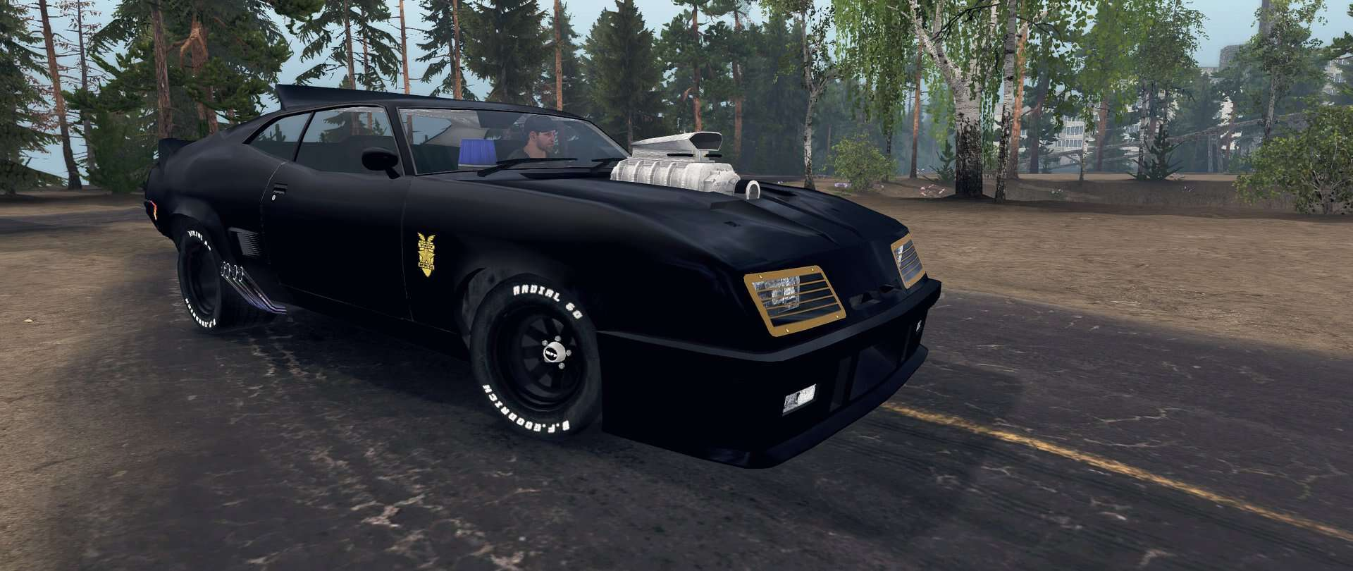 Photo of SpinTires MudRunner – Ford Falcon GT 1971 (Mad Max) v1.0