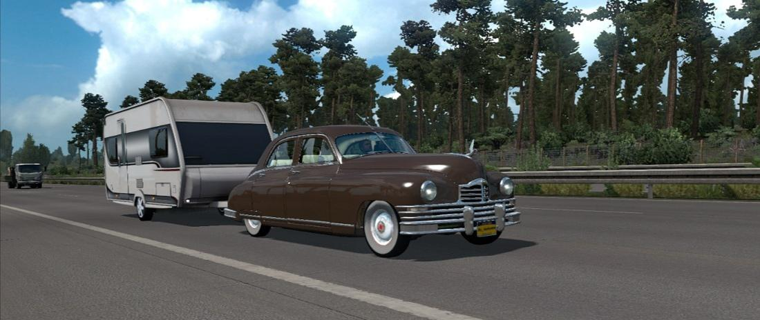 Photo of ETS2 – Packard Eight 1948 Model Araba Modu (1.36.X)
