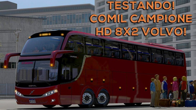 Photo of ETS2 – Comil HD 8×2 Volvo Megaking Otobüs Modu V1.2