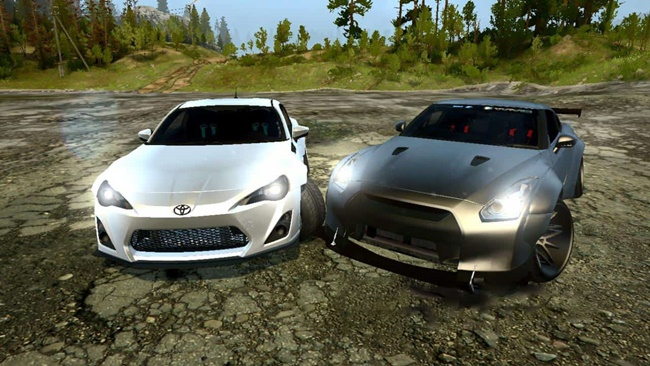 Photo of SpinTires MudRunner – Nissan Skyline GTR35 & Toyota GT86 V1