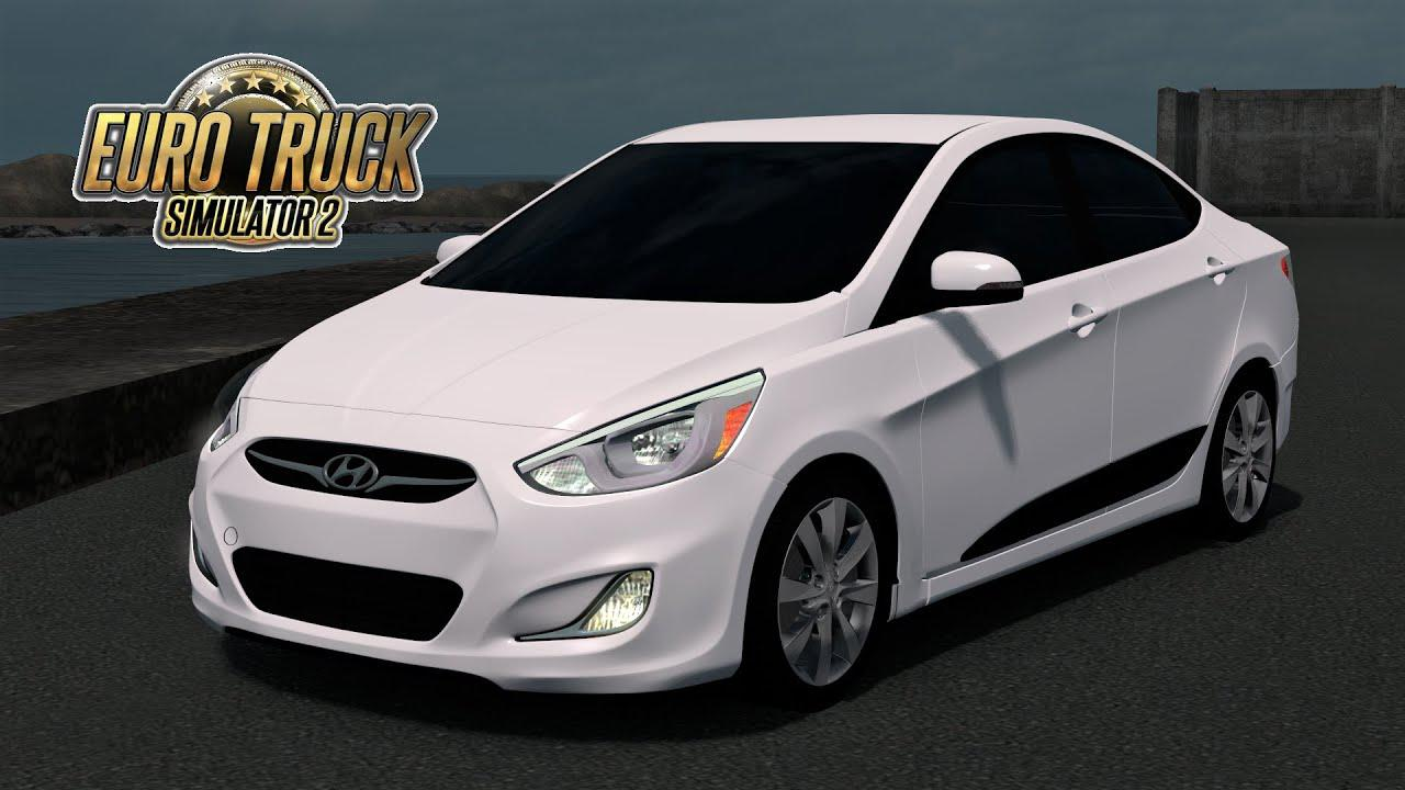 Photo of ETS2 / ATS – Hyundai Accent Blue 2010 Model Araba Modu V3.0 (1.36.x)